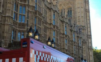 Around Westminster today? Don't worry if you see fire engines