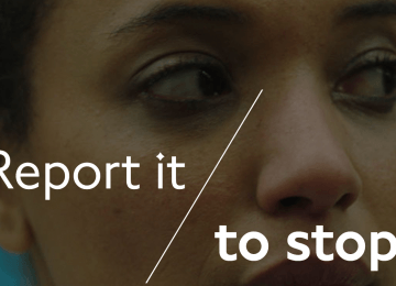 This powerful video from TfL shows how you can report unwanted sexual behaviour
