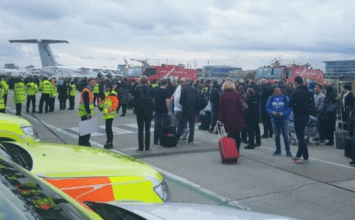 Men interviewed by police after pepper spray havoc at City Airport
