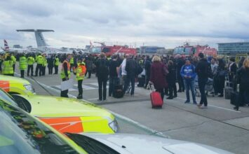 """Tear gas"" discharged in London City Airport causing mass evacuation"