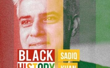 Sadiq Khan used as Black History Month icon by Kent Uni