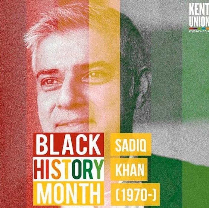 Kent University's Sadiq Khan poster