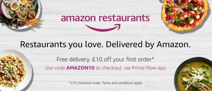 Amazon Restaurants launches in lots of new London neighbourhoods today