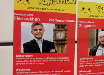 """Gotta catch and deport them all"": racist Pokemon stickers found across London"