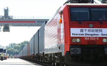 A freight train all the way from China is about to arrive in Barking