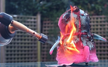 "Row over blowtorched children's toy Youtube video: Brigade hits out at ""irresponsible"" actions"