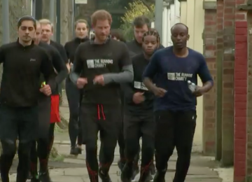 This was the moment Prince Harry went for a run in Willesden Green
