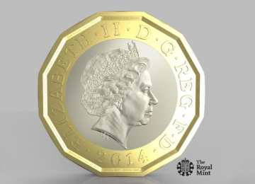 This is what the new 12-sided £1 coin is going to look like from March