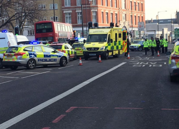 A man has died following a collision on Commercial Road this morning